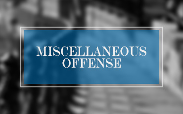 Miscellaneous Offenses